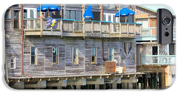 Cedar Key iPhone Cases - Building on Piles Above Water iPhone Case by Lorna Maza