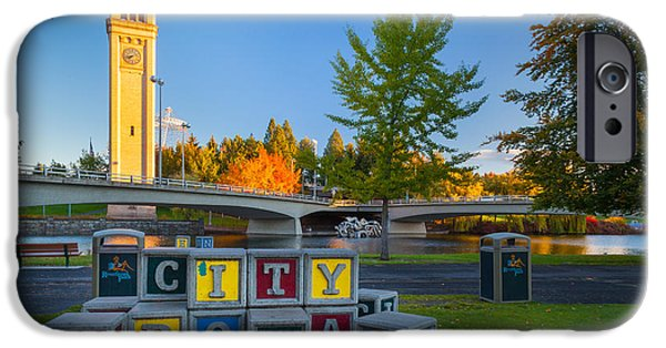 Spokane iPhone Cases - Building the City iPhone Case by Inge Johnsson