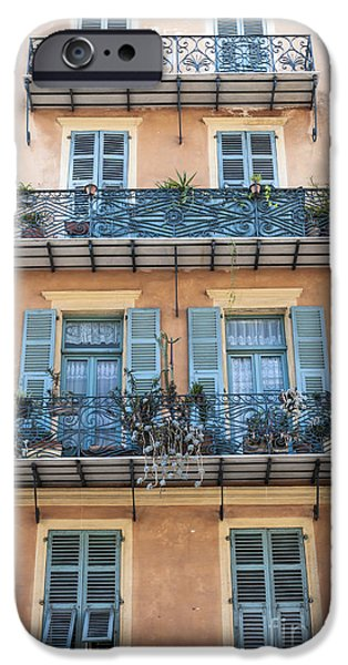 Balcony iPhone Cases - Building with balconies iPhone Case by Elena Elisseeva