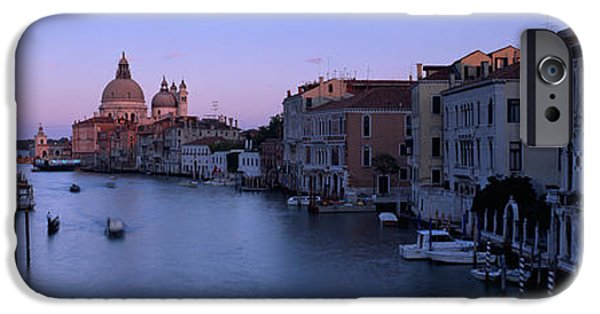 Santa iPhone Cases - Buildings Along A Canal, Santa Maria iPhone Case by Panoramic Images