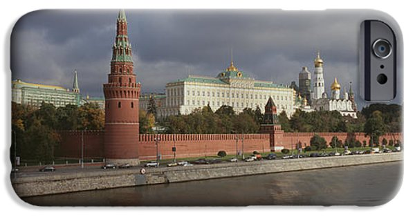 Annunciation iPhone Cases - Buildings Along A River, Grand Kremlin iPhone Case by Panoramic Images