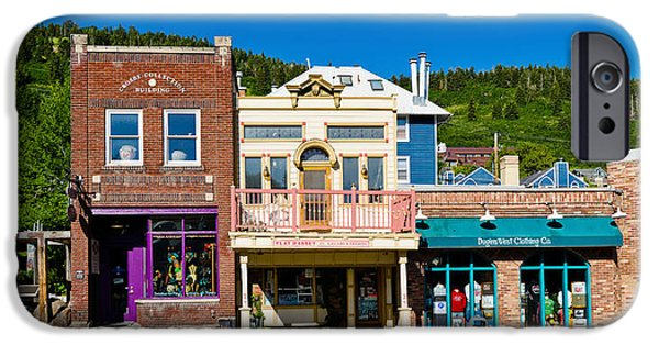 Balcony iPhone Cases - Buildings Along A Street, Main Street iPhone Case by Panoramic Images