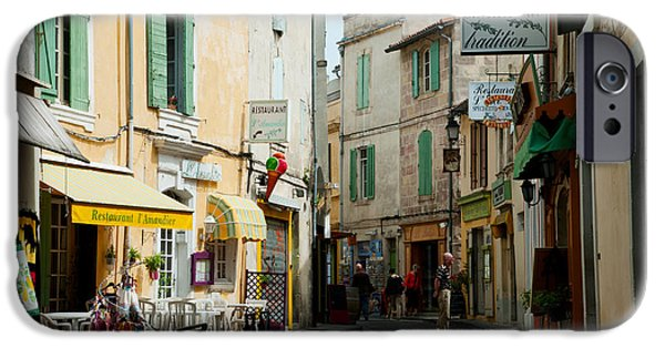 Arles iPhone Cases - Buildings Along A Street, Rue Porte De iPhone Case by Panoramic Images