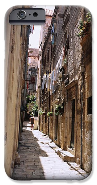 Alley iPhone Cases - Buildings Along An Alley In Old City iPhone Case by Panoramic Images