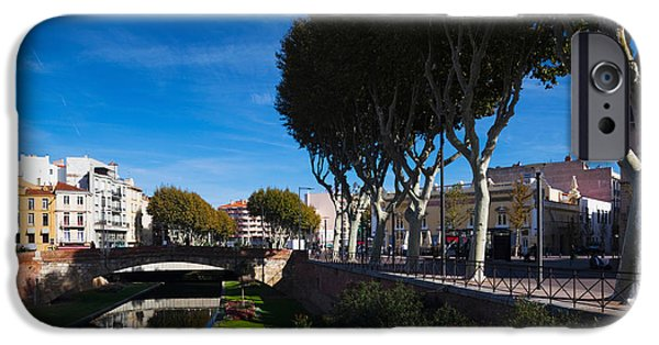 Languedoc iPhone Cases - Buildings Along The Basse Riverfront iPhone Case by Panoramic Images