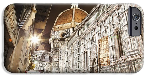 From The Dome iPhone Cases - Buildings And Florence Cathedral iPhone Case by Alexander Macfarlane