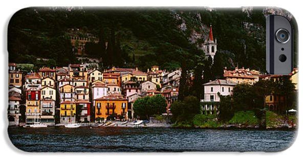Tile Roofs iPhone Cases - Buildings At The Lakeside Viewed iPhone Case by Panoramic Images