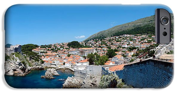 Tile Roofs iPhone Cases - Buildings At The Waterfront, Adriatic iPhone Case by Panoramic Images