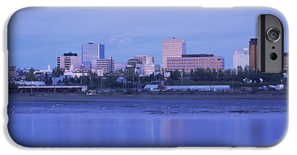 Built Structure iPhone Cases - Buildings At The Waterfront, Anchorage iPhone Case by Panoramic Images