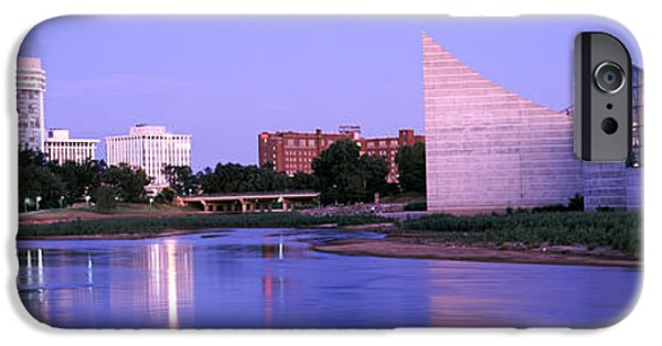 Arkansas Photographs iPhone Cases - Buildings At The Waterfront, Arkansas iPhone Case by Panoramic Images