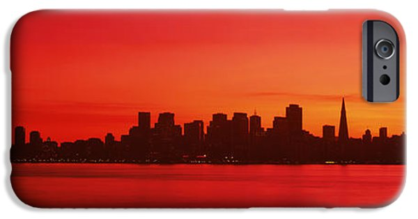 Oakland Bay Bridge iPhone Cases - Buildings At The Waterfront, Bay iPhone Case by Panoramic Images