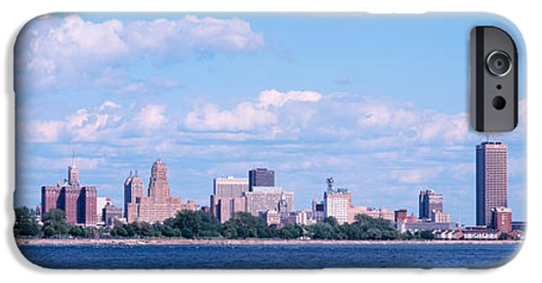 Built Structure iPhone Cases - Buildings At The Waterfront, Buffalo iPhone Case by Panoramic Images