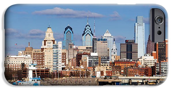 Built Structure iPhone Cases - Buildings At The Waterfront, Delaware iPhone Case by Panoramic Images