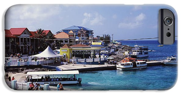 West Indies iPhone Cases - Buildings At The Waterfront, George iPhone Case by Panoramic Images