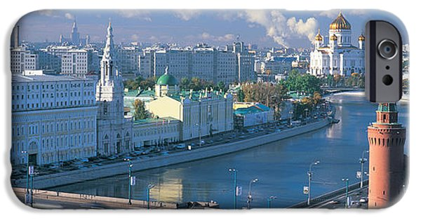 Built Structure iPhone Cases - Buildings At The Waterfront, Moskva iPhone Case by Panoramic Images