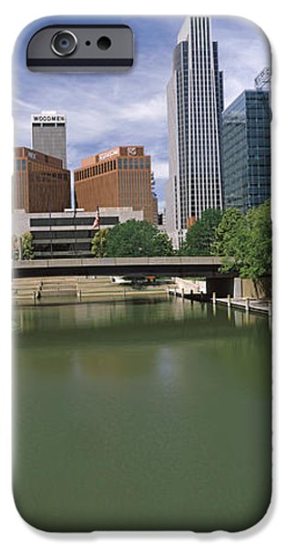 Nebraska iPhone Cases - Buildings At The Waterfront, Omaha iPhone Case by Panoramic Images