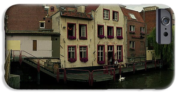 Flemish iPhone Cases - Buildings At The Waterfront, Patershol iPhone Case by Panoramic Images