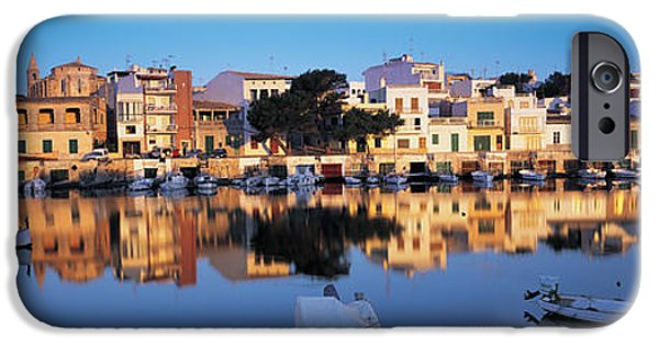 Mode Of Transport iPhone Cases - Buildings At The Waterfront, Porto iPhone Case by Panoramic Images