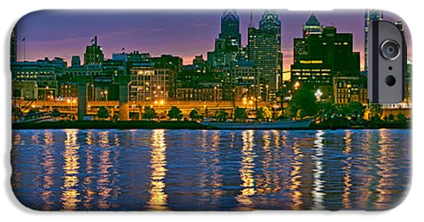 Connection iPhone Cases - Buildings At The Waterfront, River iPhone Case by Panoramic Images