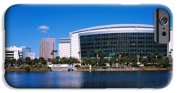 Built Structure iPhone Cases - Buildings At The Waterfront, St. Pete iPhone Case by Panoramic Images