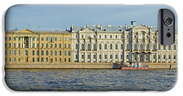 National Building Museum iPhone Cases - Buildings At The Waterfront, Winter iPhone Case by Panoramic Images