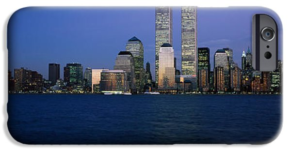 Hudson River iPhone Cases - Buildings At The Waterfront, World iPhone Case by Panoramic Images