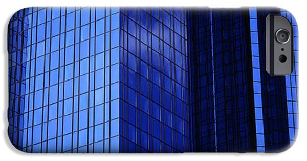 Facade iPhone Cases - Buildings, Frankfurt, Germany iPhone Case by Panoramic Images