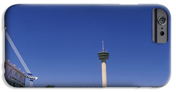 The Americas iPhone Cases - Buildings In A City, Alamodome, Tower iPhone Case by Panoramic Images