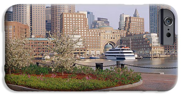 City. Boston iPhone Cases - Buildings In A City, Boston iPhone Case by Panoramic Images
