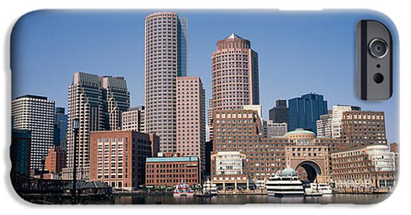 Boston iPhone Cases - Buildings In A City, Boston, Suffolk iPhone Case by Panoramic Images