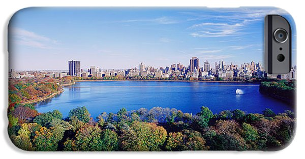 Locations iPhone Cases - Buildings In A City, Central Park iPhone Case by Panoramic Images