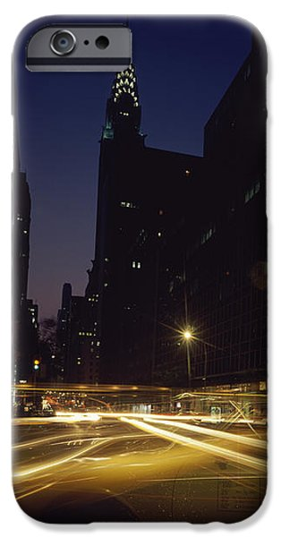 Built Structure iPhone Cases - Buildings In A City, Chrysler Building iPhone Case by Panoramic Images