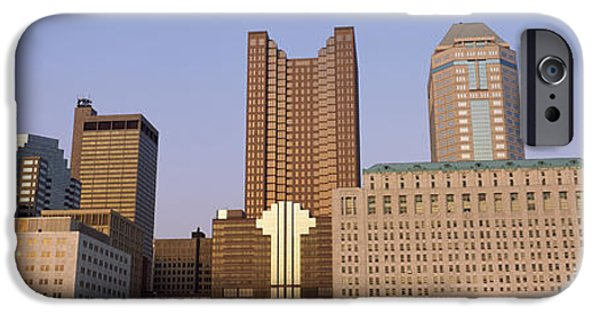 Franklin iPhone Cases - Buildings In A City, Columbus, Franklin iPhone Case by Panoramic Images