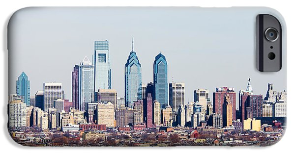Built Structure iPhone Cases - Buildings In A City, Comcast Center iPhone Case by Panoramic Images