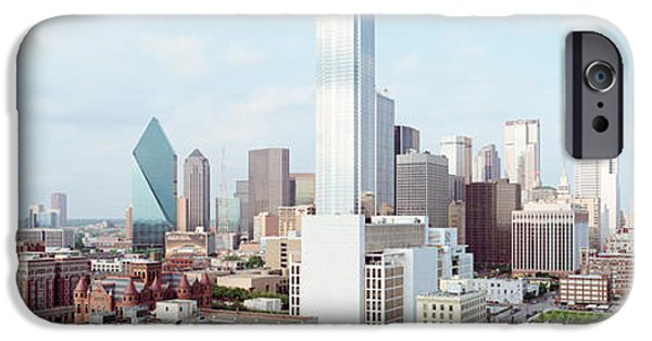 Built Structure iPhone Cases - Buildings In A City, Dallas, Texas, Usa iPhone Case by Panoramic Images