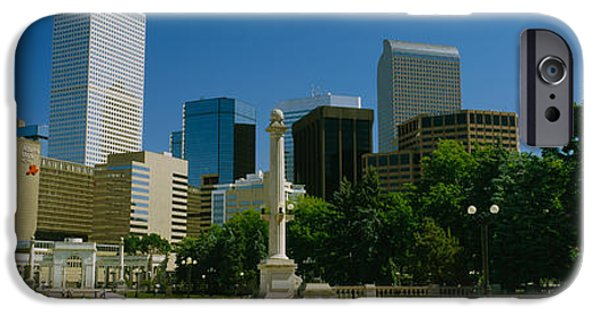 Nation iPhone Cases - Buildings In A City, Denver, Colorado iPhone Case by Panoramic Images