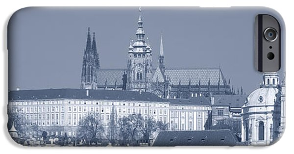 St Nicholas iPhone Cases - Buildings In A City, Hradcany Castle iPhone Case by Panoramic Images