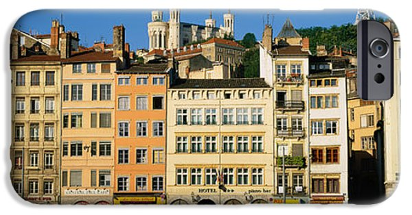 Lyon iPhone Cases - Buildings In A City, Lyon, France iPhone Case by Panoramic Images