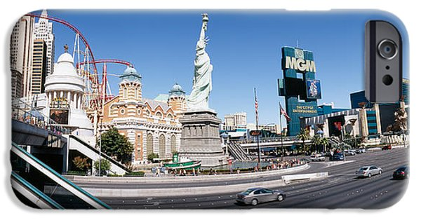 Rollercoaster Photographs iPhone Cases - Buildings In A City, New York New York iPhone Case by Panoramic Images