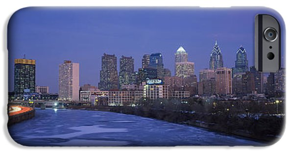 Schuylkill iPhone Cases - Buildings In A City, Philadelphia iPhone Case by Panoramic Images