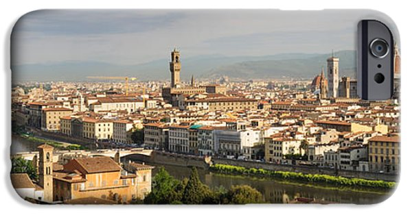 Santa iPhone Cases - Buildings In A City, Ponte Vecchio iPhone Case by Panoramic Images