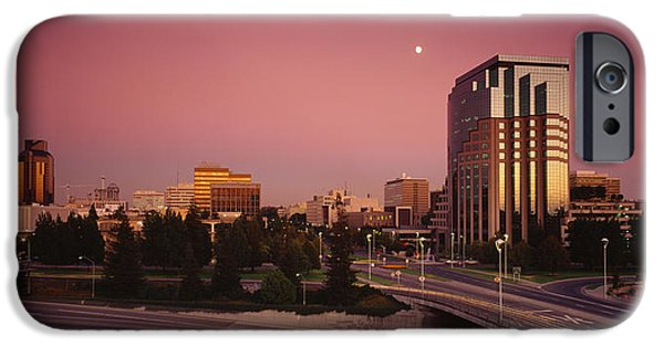 Locations iPhone Cases - Buildings In A City, Sacramento iPhone Case by Panoramic Images