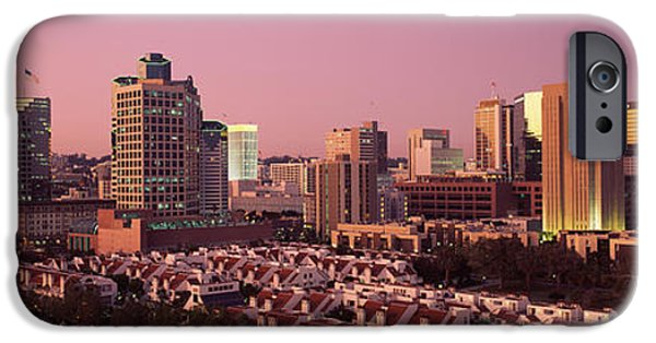 Built Structure iPhone Cases - Buildings In A City, San Diego, San iPhone Case by Panoramic Images