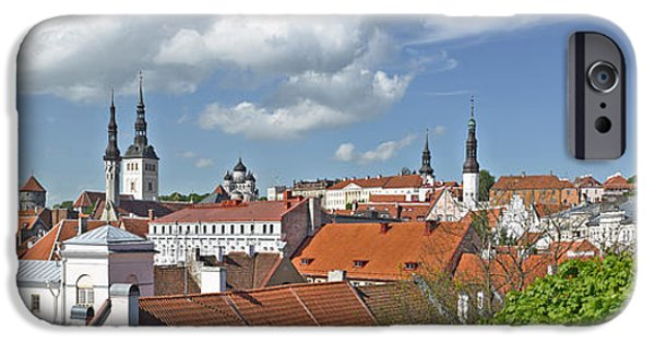 Estonia Photographs iPhone Cases - Buildings In A City, St Olafs Church iPhone Case by Panoramic Images