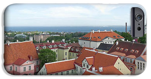 Estonia Photographs iPhone Cases - Buildings In A City, Tallinn, Estonia iPhone Case by Panoramic Images