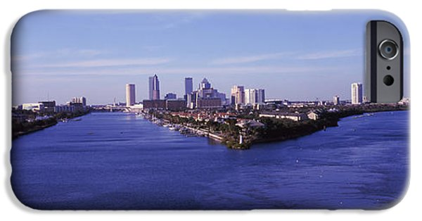 Built Structure iPhone Cases - Buildings In A City, Tampa iPhone Case by Panoramic Images
