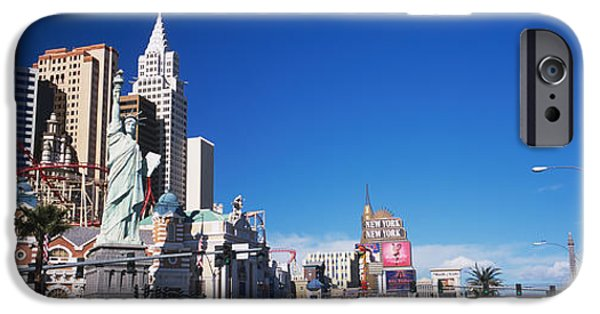 Land Vehicle iPhone Cases - Buildings In A City, The Strip, Las iPhone Case by Panoramic Images
