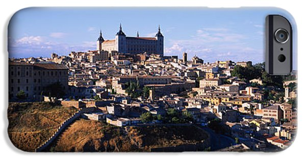 Built Structure iPhone Cases - Buildings In A City, Toledo, Toledo iPhone Case by Panoramic Images