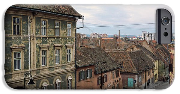 Town Square iPhone Cases - Buildings In A City, Town Center, Big iPhone Case by Panoramic Images