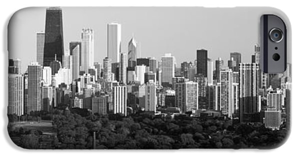 Sears Tower iPhone Cases - Buildings In A City, View Of Hancock iPhone Case by Panoramic Images